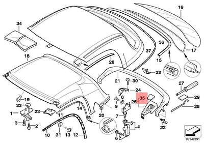 Genuine BMW Z3 Roadster Right Locking Plug OEM 54218411334