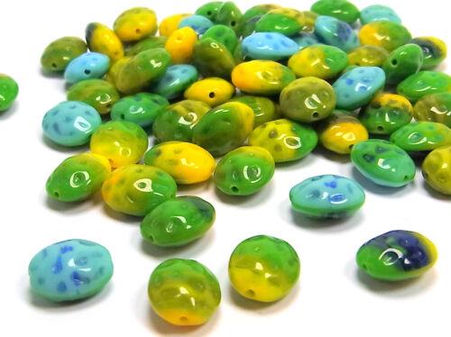11 x 9 mm 30 x Kaden cuentas de vidrio Spring Colors; * 2461 óvalo