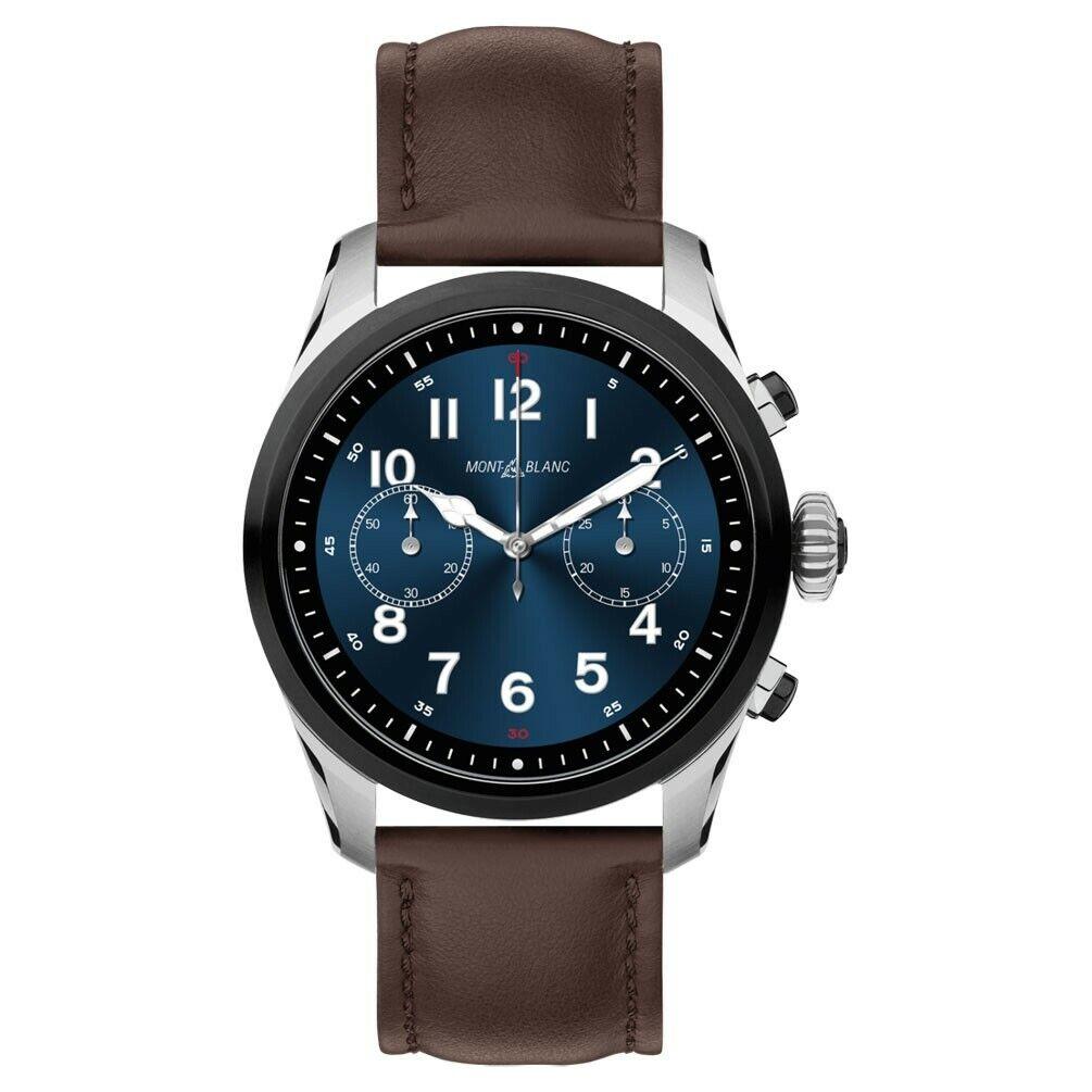 Montblanc Summit 2 Smartwatch 119439 Bicolor Steel and brown calfskin strap