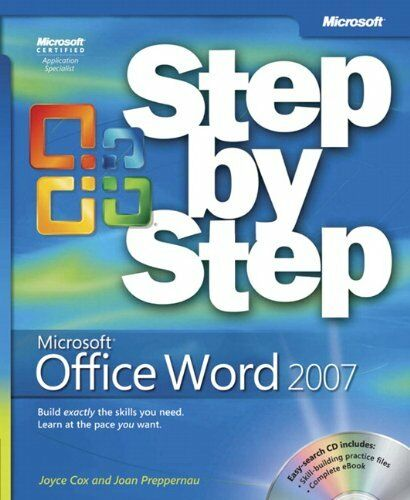 Microsoft Office Word 2007 Step by Step Book/CD Package By Joyce Cox, Joan Lamb