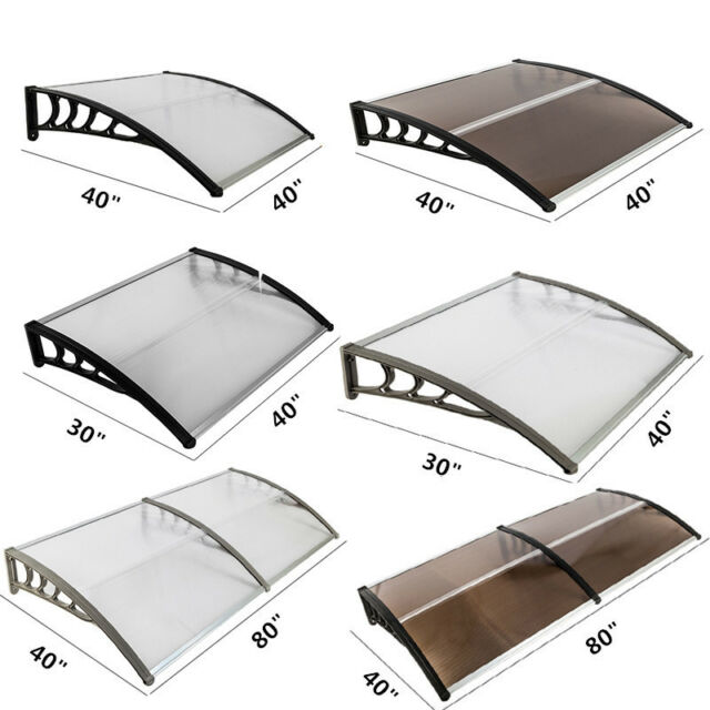 40 X 80 120 Front Door Window Awning Cover Outdoor Patio Canopy Uv Protector