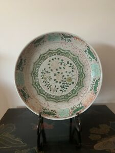 Antique-Chinese-Qing-Dynasty-Porcelain-Plate