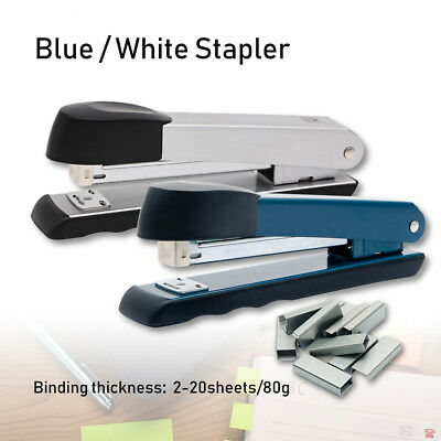 Staplers Devoted Silver Gray Metal Half-strip Stapler 24/6 26/6 Office Desk Heavy Duty Durable Uk