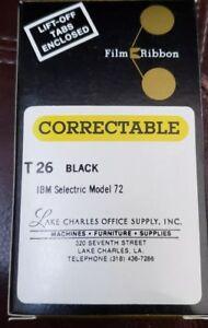 Vintage Correctable Film T26 Black for IBM Selectric Model 72 Typewriter NOS