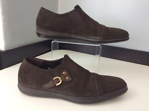 Cesare-Paciotti-Mens-Slip-On-Suede-Shoes-Loafers-Uk-5-Eu39-Brown