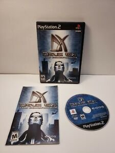 Deus Ex: The Conspiracy (PlayStation 2, 2002) with Manual TESTED