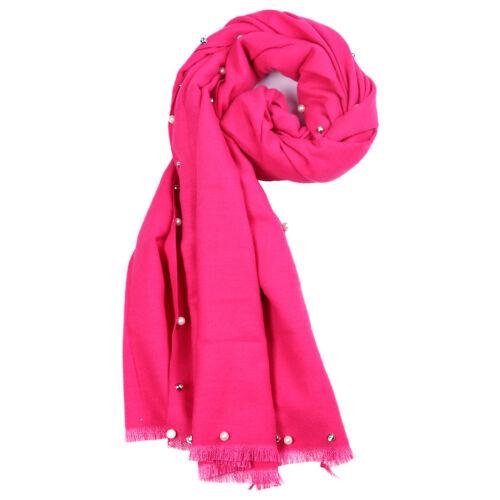 Femmes Designer perle écharpe chaude Wrap Tassel Doux Écharpes Châle Haute Qualité