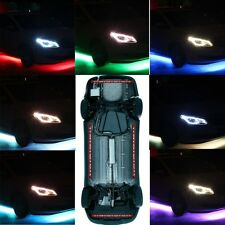 Colorful LED Strip Under Car Tube Underglow System Underbody Neon Light Kit 12V