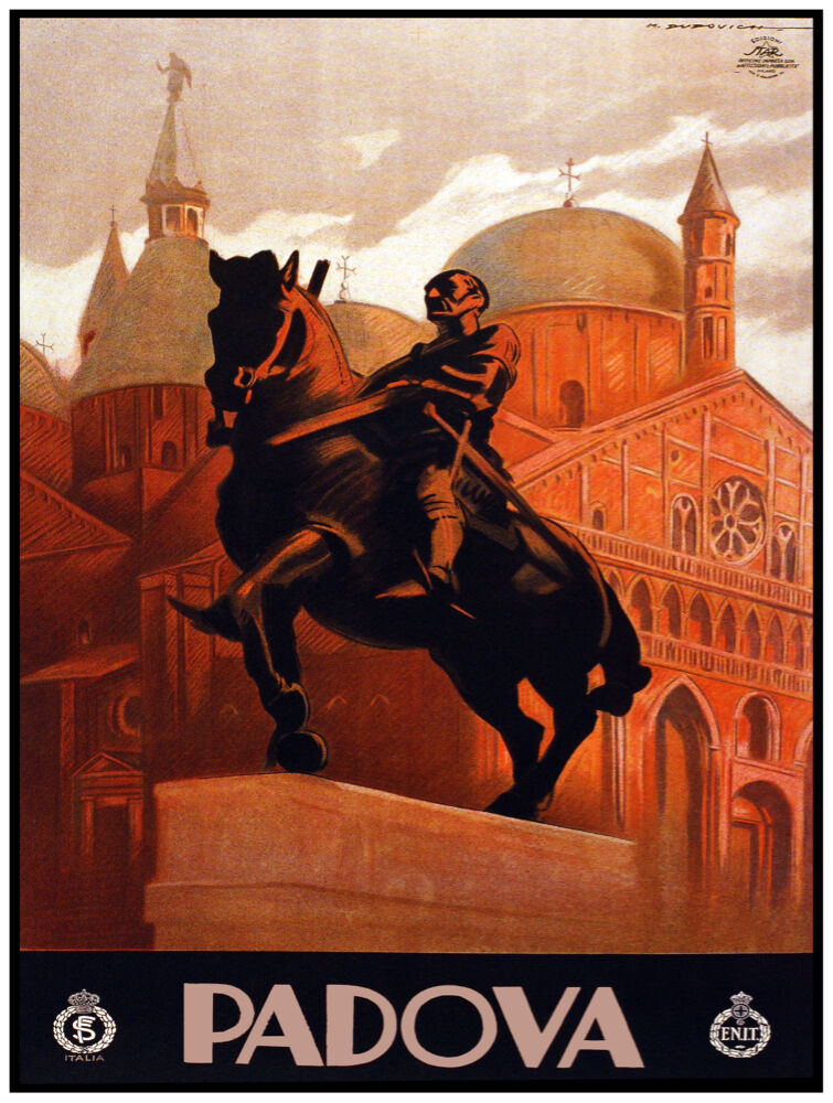 9814.Padova.Statue of man riding horse.POSTER cor Home Office art