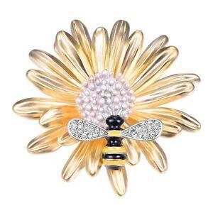 Spille-per-donna-Perle-gioielli-3D-ape-spilla-animale-Pin-N8L4