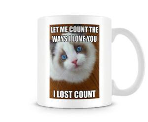 Funny Valentines Day Mug Cute Cat Meme Great Giftpresent Idea