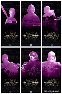 Topps-Star-Wars-Digital-Card-Trader-TFA-6-Card-Purple-Die-Cut-Insert-Set
