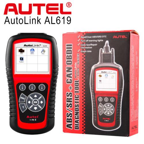 Autel AL619 Auto Link OBD2 Diagnostic Tool Code Reader Scanner ABS SRS Airbag