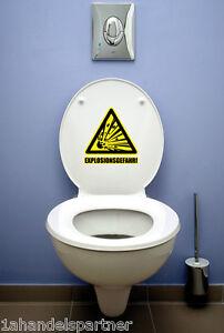 BAD-WC-Badezimmer-Wandaufkleber-Wandtattoo-EXPLOSIONSGEFAHR-Deko-Aufkleber-SET