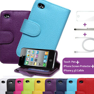 Fold-Wallet-Case-Cover-for-iPhone-5-5s-se