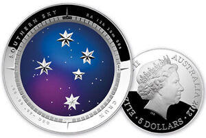 2012-Australia-Crux-Southern-Sky-Domed-Silver-Proof-Coin-NGC-PF70-UCAM-RARE