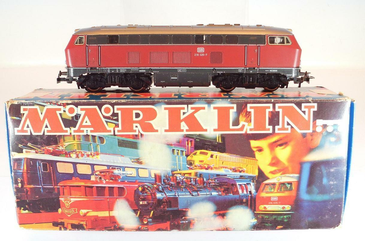 Märklin h0 3075 diesellok br 216 025-7 de la DB ha examinado en o-box