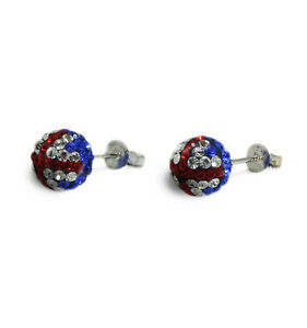 Genuine-Sterling-Silver-8mm-Shamballa-Crystal-Ball-Stud-Earrings-Union-Jack