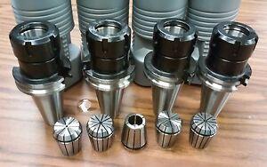 --new Tool Holder Set CAT40-ER32 COLLET CHUCK---5 CHUCKS