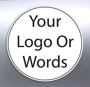 Image is loading Business-Shop-Front-stickers-Size-round-circle-logo-