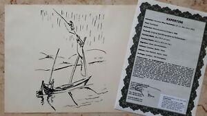 Max-PECHSTEIN-1881-1955-Original-Lithographie-Anno-1919-336-SUEZKANAL