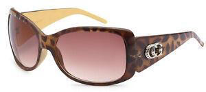 Women CG Fashion Eyewear Designer Wrap Sunglasses UV Protect T.Black CG125