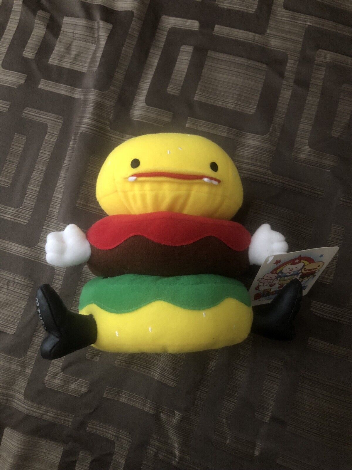 Friends With You Mr TTT Burger Plush 2004 SIGNED by Tury   Sam Of Friendswithyou