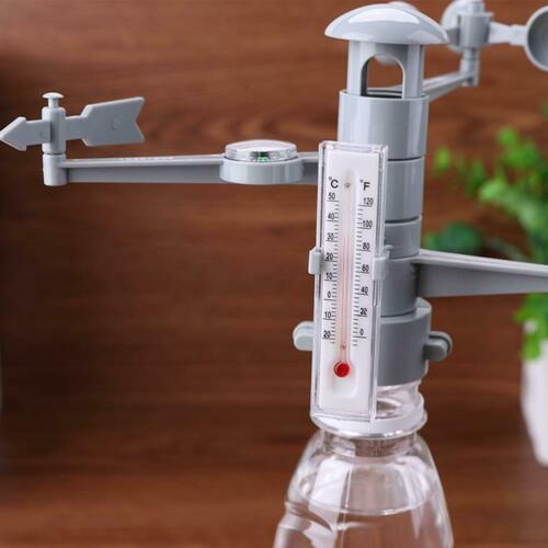 Weather Station Model Science Technology Physics Experiment Kids Puzzle Toy 7E