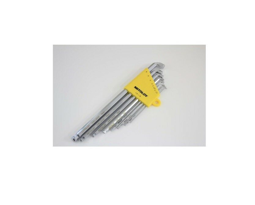 MITOLOY BALL POINT HEX WRENCH SET STUBBY LONG TYPE (8pcs 1.5~8mm) HBL800S