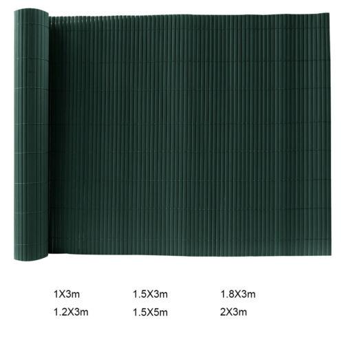 Green PVC Garden Fence Artificial Bamboo Screening Fencing Balcony Privacy Panel