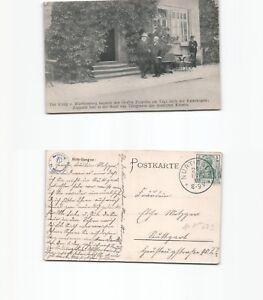 (n15223) carte postale Roi de Wurtemberg visite le Comte Zeppelin-afficher le titre d`origine XqN6eWGV-07133844-601551156