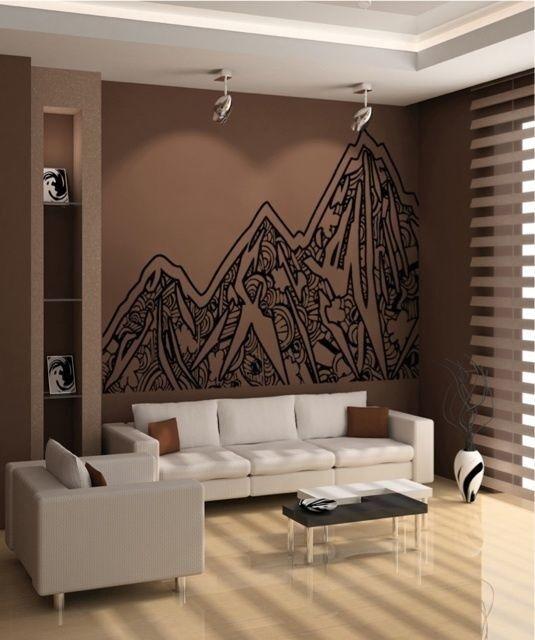 Vinilo Parojo Calcomanía Adhesivo Abstracto montañas OS_AA919s 53W X 42H