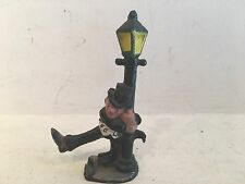 ANTIQUE WILTON WRIGHT CAST IRON BOTTLE OPENER DRUNK HOLDING STREET LAMP NEW ORLE