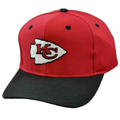 Sport Nfl Kansas City Chiefs Vintage Deadstock Rot Blk Snapback Logo Athletic Mütze Elegant Im Geruch