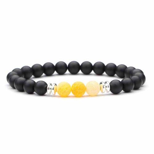 Armband Edelstein Kugel Perlen Naturstein Quarz 8mm stretch Reiki Karma Yoga
