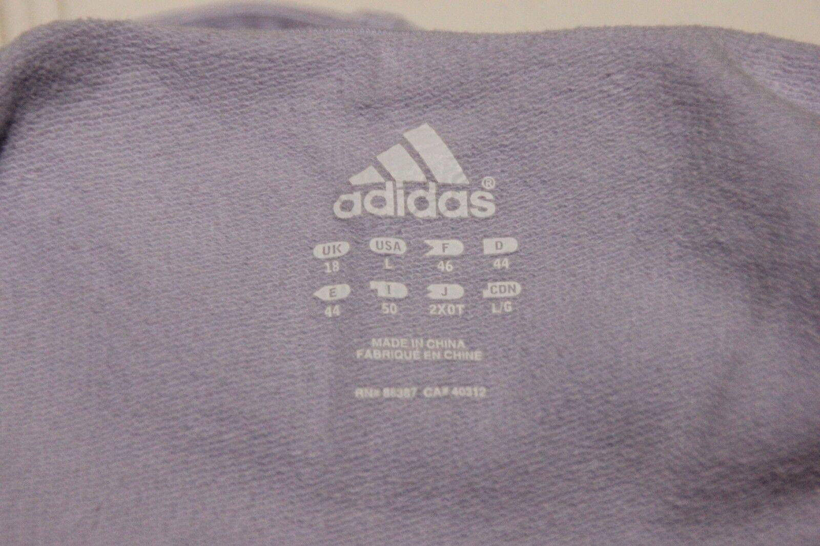 EUC Adidas Lavendar Hoodie womens size size size large bae422