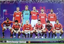 "MANCHESTER UNITED ""WEMBLEY FINAL 2011"" FOOTBALL POSTER - Premier League, Soccer"