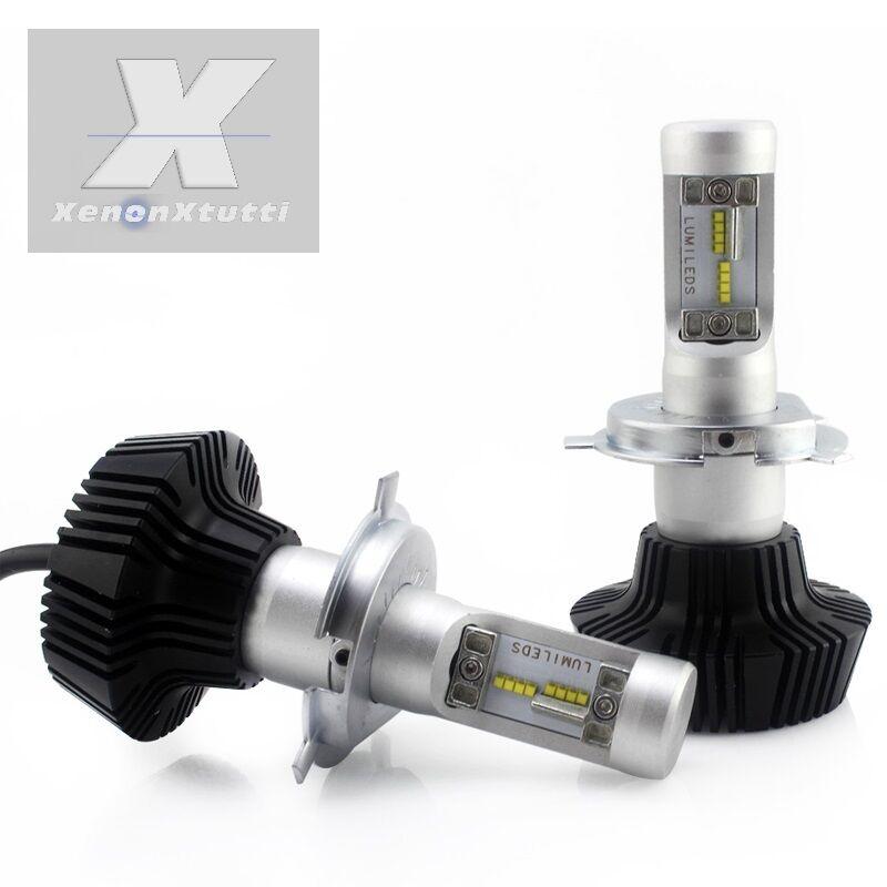 KIT FULL LED XENON 8000 LM LUMEN H4 6000K LED Luxeon ZES