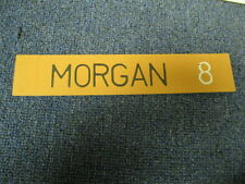 Joe Morgan Name Plate from Locker San Franciso Giants #8