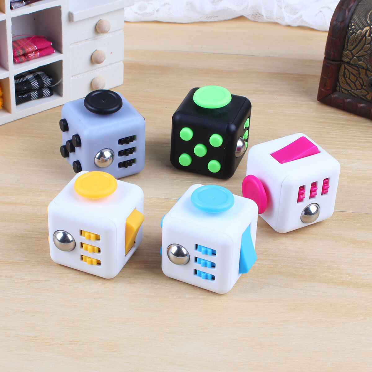 Stress Relief Toys : Fidget cube anxiety stress relief focus gift adults kids