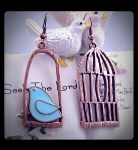 Bird-cage-dangle-Earrings