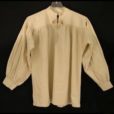 Pirate Medieval Colonial Steampunk Western SCA Larp Mountainman Shirt Laced Neck