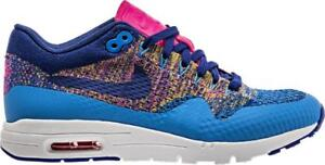 1b8bbfcc02898 Womens NIKE AIR MAX 1 ULTRA FLYKNIT Blue Trainers 843387 400 ...
