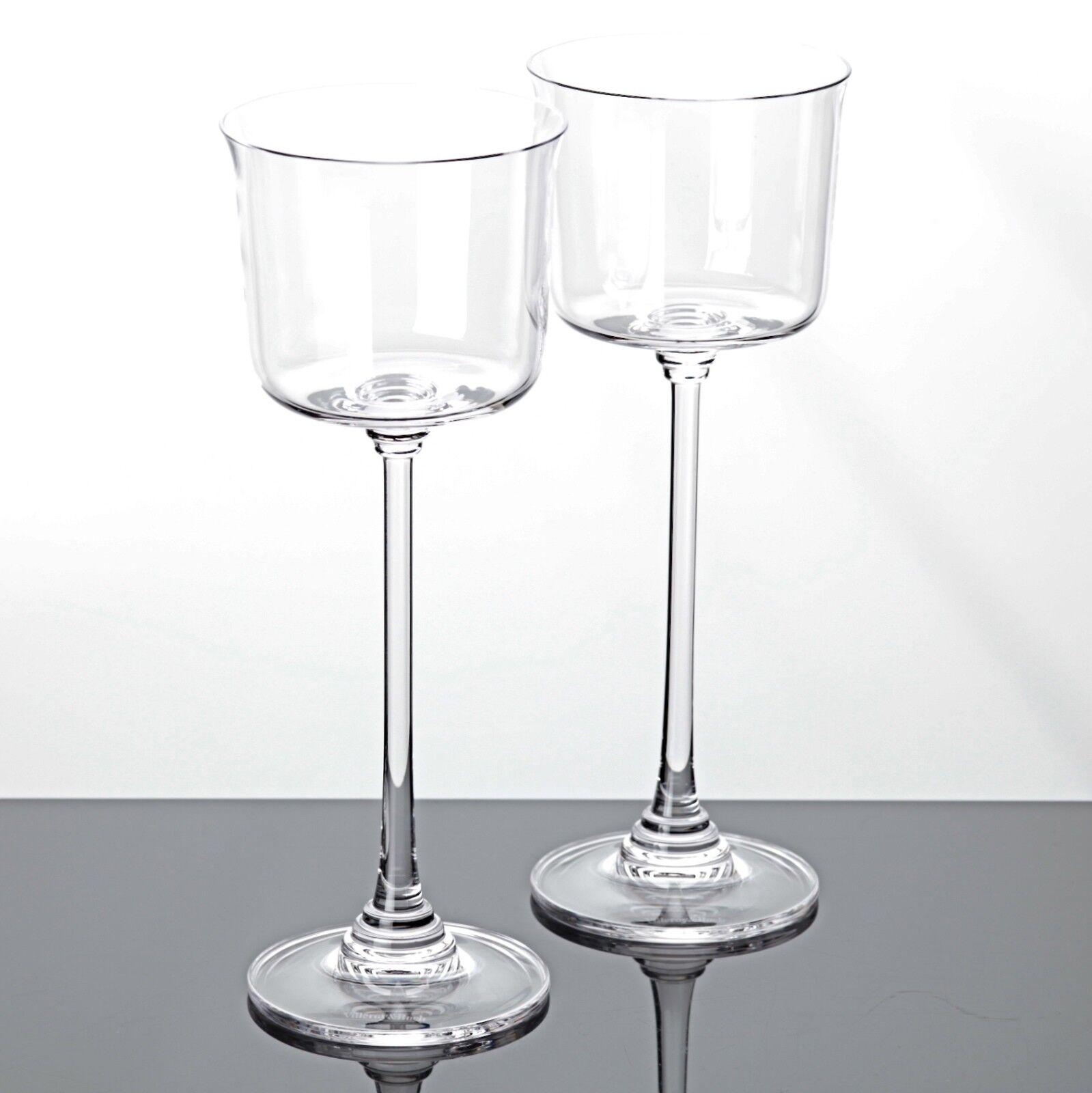 2 Weingläser Villeroy & Boch VB Lilian Bleikristall Gläser 22 cm Wassergläser | Große Klassifizierung