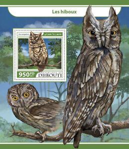 djibouti 2017 mnh owls african scops owl 1v s s birds stamps ebay