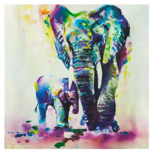 Canvas Dog Frag Abstract Wall Art Oil Paint Animal Poster Decor Modern Elephant