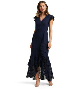 New-with-Tags-FOREVER-NEW-Audrey-Lace-Ruffle-Formal-Dress-size-8-RRP-229-99