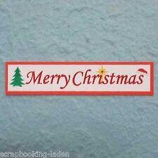 30 x Merry Christmas 9 cm Textfahne Scrapbooking 3-D
