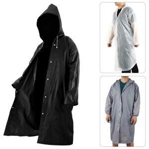 Manteau-Pluie-Poncho-Etanche-Impermeable-Homme-Femme-Vetement-Cape-Tissu-WL