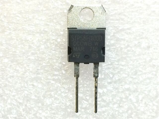 TO-220AC Package 1 x  STPS8H100D Schottky Diode 8Amp 100Volt made by ST